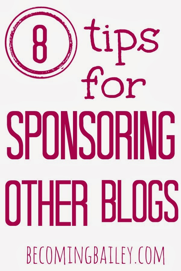 Sponsoring Other Blogs