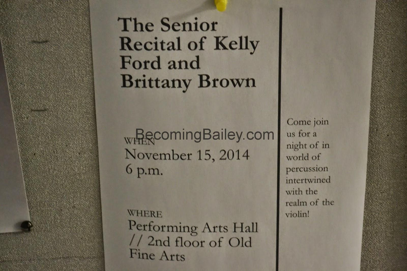 Brittany's Senior Recital