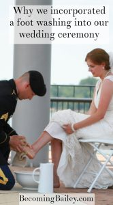 Why We Incorporated a Foot Washing Ceremony in Our Wedding