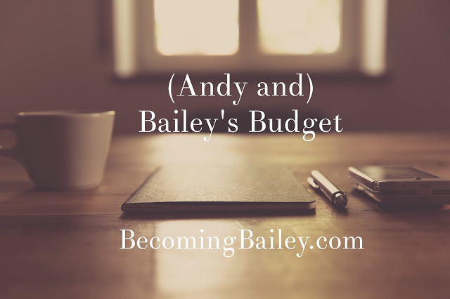 (Andy and) Bailey's Budget: September 2016