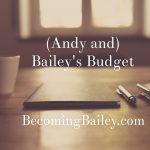 (Andy and) Bailey's Budget: May 2017