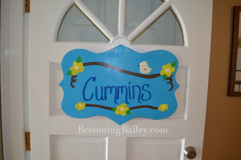 First Thing Youd See When You Walk Through Our Front Door Is Adorable Welcome Sign Okay So It Doesnt Exactly Say But Every House