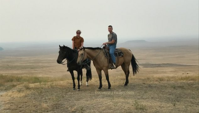Horseback Riding Through the Badlands