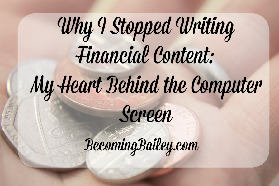 Why I Stopped Writing Financial Blog Posts: My Heart Behind the Screen