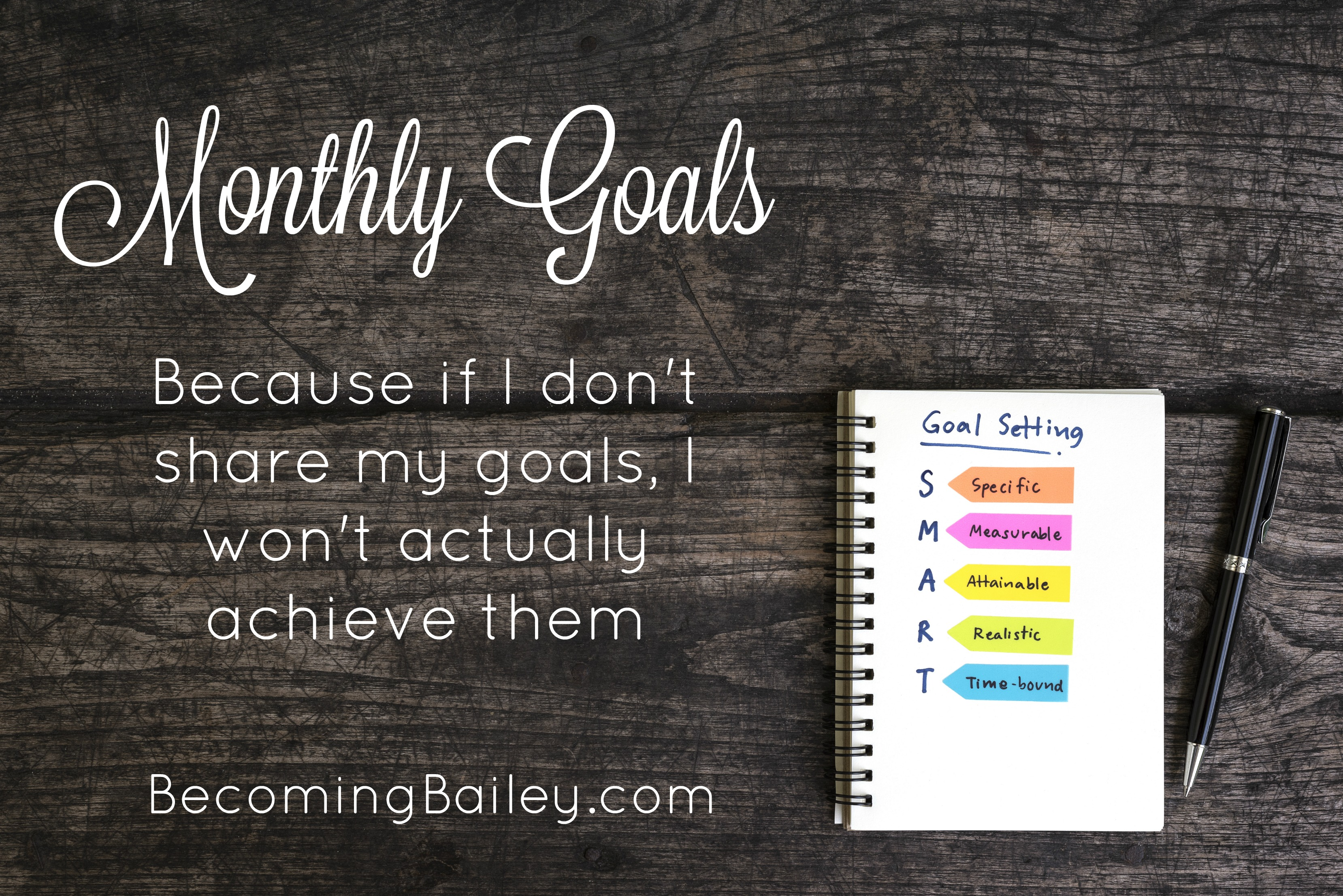 Monthly Goals {October 2018}