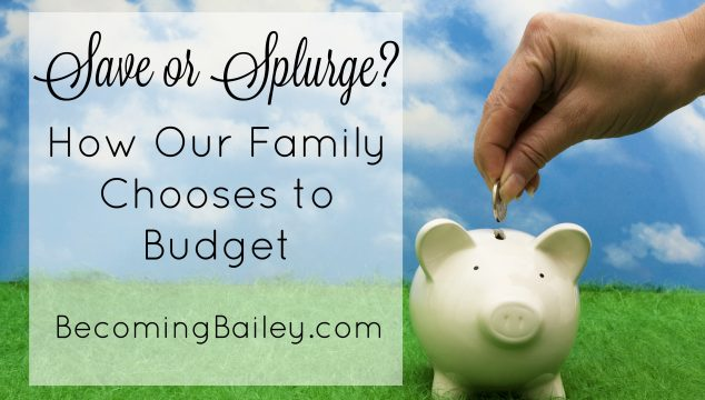 Steal vs. Splurge: How Our Family Chooses to Budget