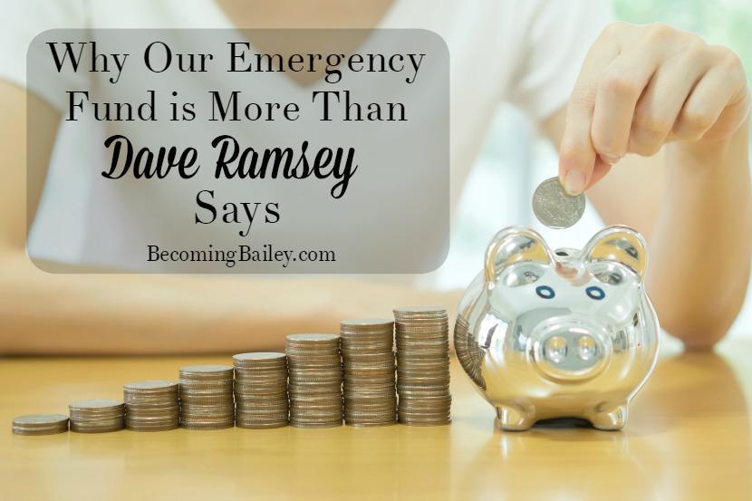 Emergency Fund Dave Ramsey