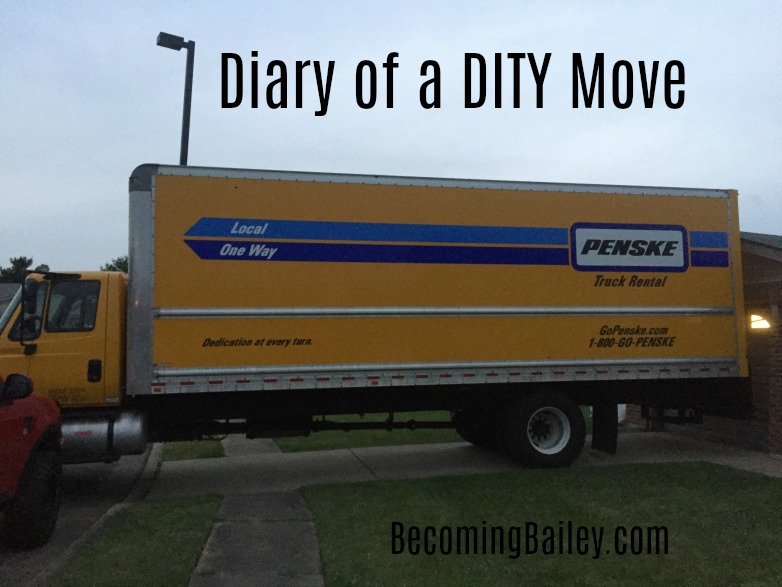 Diary of a DITY Move