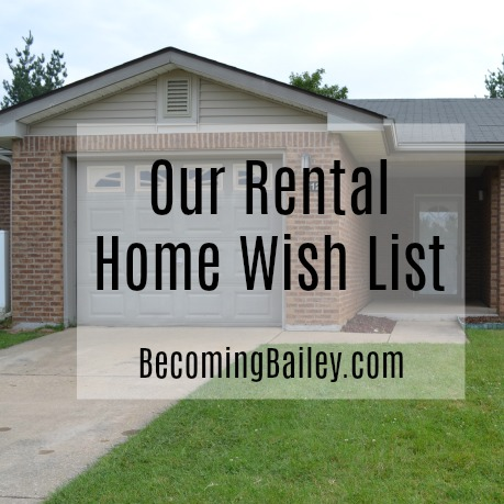 One military family's wish list in a rental home