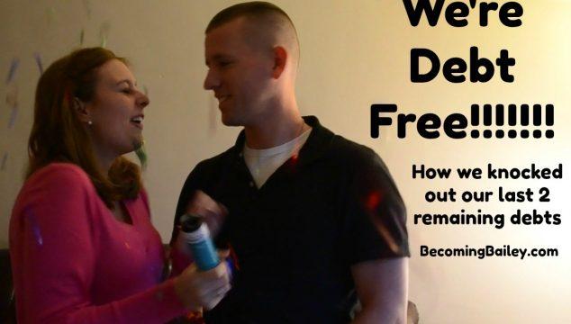 We're DEBT FREE!!!!!