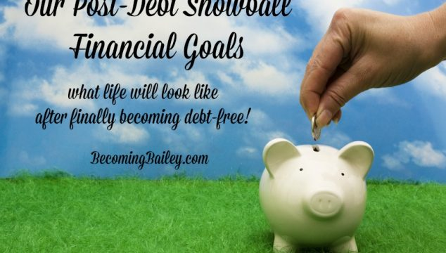 Our Post-Debt Snowball Financial Goals… Now That We're Debt Free!