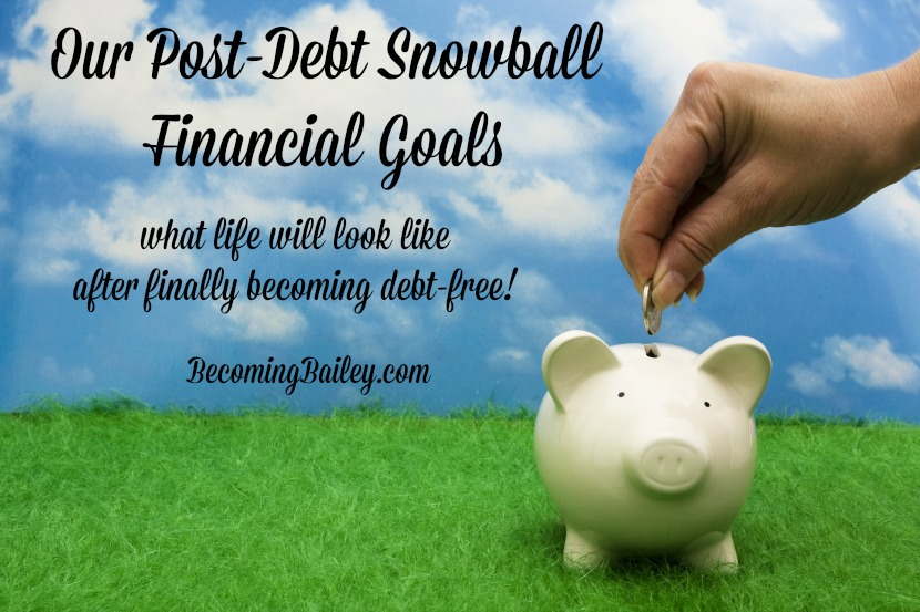 Our Post-Debt Snowball Financial Goals... Now That We're Debt Free!