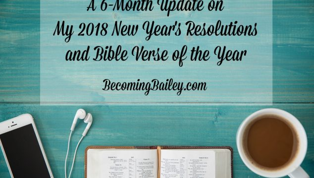 2018 Yearly Goals Update