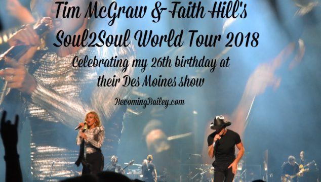 Tim McGraw & Faith Hill's Soul2Soul World Tour 2018 {Des Moines show recap}