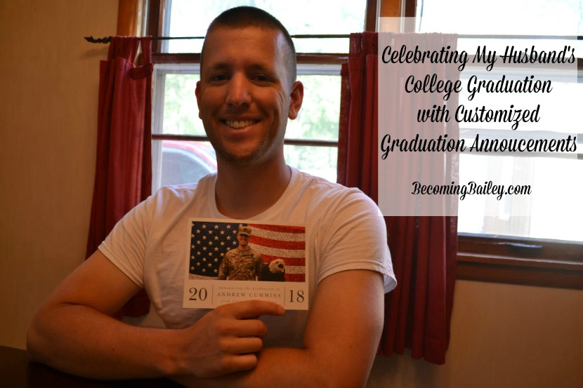 Celebrating My Husband's College Graduation with Customized Graduation Announcements