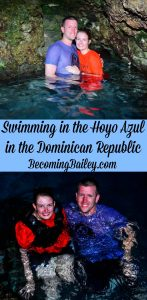 Swimming in Hoyo Azul in the Dominican Republic