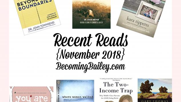 Recent Reads {November 2018}